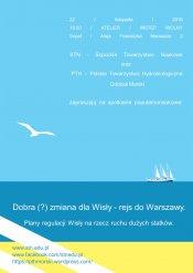 Dobra (?) zmiana dla Wisły - rejs do Warszawy. Plany regulacji Wisły na rzecz ruchu dużych statków.